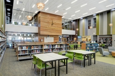 Library in a school
